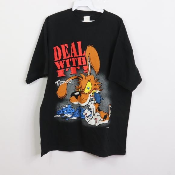 Vintage Shirts Vintage 9s T Dogg Mens Xl Cartoon Dog T Shirt Poshmark
